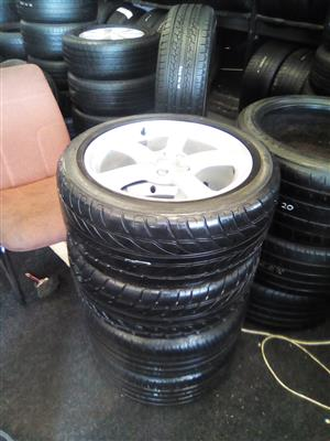 17 inch Audi A3 and A4 x4 mags with 255/45/17 tyres for R5999.
