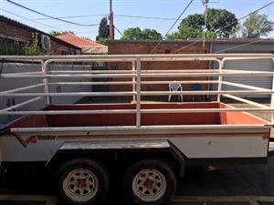 Venter Trailer - 1 Ton, 3 meter, double axle tandem with rails