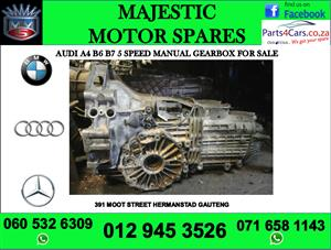 Audi A4 B6 & B7 5 speed manual gearbox for sale