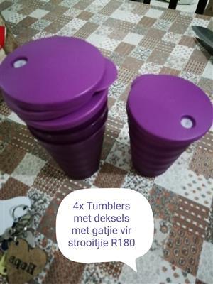 4 Tumblers met deksels