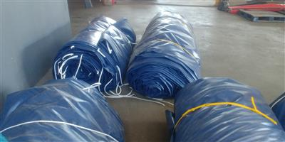 Heavy duty pvc truck tarpaulins/covers and cargo nets for super-link and tri_axle