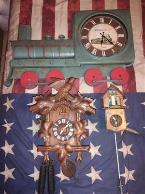 Few antique clocks