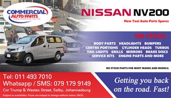 Nissan NV200 Parts and Spares For Sale.