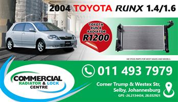 TOYOTA RUNX COOLING SYSTEMS  FOR SALE