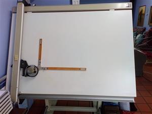 Groot tekenbord met liniaal