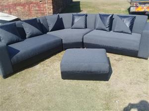 Corner couch V shape