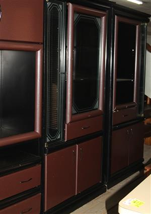 Dark brown wall unit S031398A #Rosettenvillepawnshop