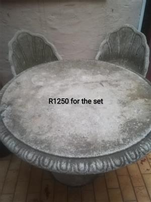 Cement table and chairs for sale