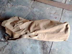 Old army tent canvas bag