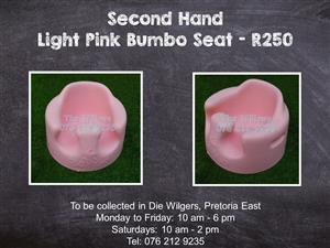Second Hand Light Pink Bumbo Seat