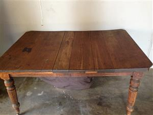 Antique table with white oak top