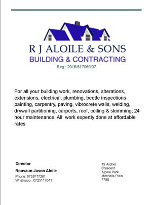 R J Aloile & sons building & contracting