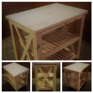 Kitchen Island Chunky Cottage series 900 Mobile Raw