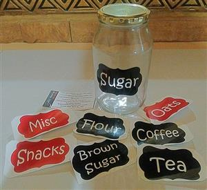 Labels / Stickers for Spice Jars, Bottles, Containers