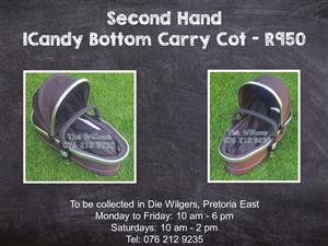 Second Hand ICandy Bottom Carry Cot