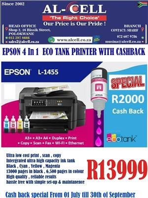 Epson 4-in-1 A3 Color Printer With Wi-Fi