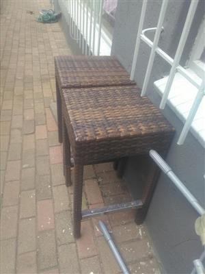 Cane bar chairs for sale