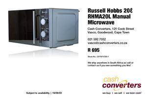 Russell Hobbs 20ℓ RHMA20L Manual Microwave