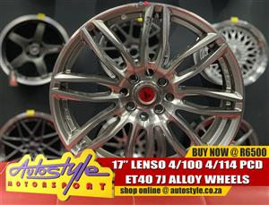 17inch Lenso 4-100-114 pcd Et40 Center bore 73.1 7J all round R6500