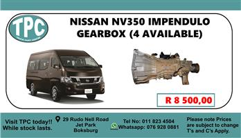 Nissan NV350 Impendulo Gearbox - For Sale at TPC