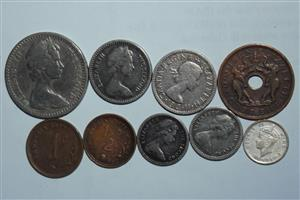 Old Rhodesian and Nyasaland coins for sale