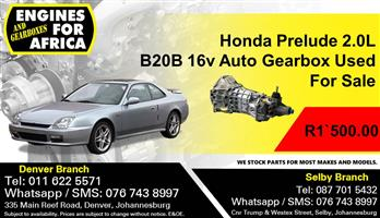 Honda Prelude 2.0L B20B 16v Auto Gearbox Used For Sale