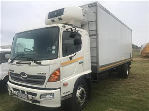 Toyota Hino 15-258 fitted with Trafig fridge unit