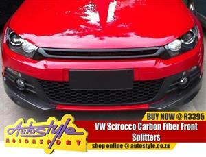 VW Scirocco Carbon Fiber Front Splitters