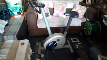 Exercise bike required for old pensioner with prosthetic leg