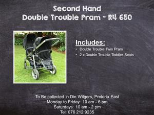 Second Hand Double Trouble Pram
