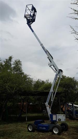 Cherry Picker VerticalZA Nifty HR12DE - 12m Boom Lift, BIO FUEL Manlift