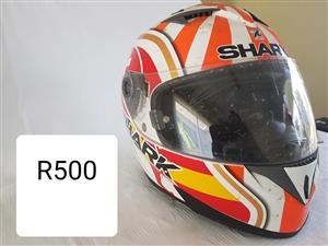 Orange shark helmet