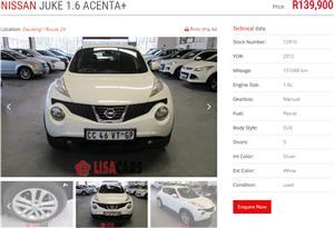 2012 Nissan Juke 1.6 Acenta+