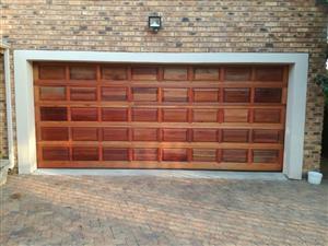 Garage Door Double Solid Wood