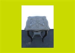 Victorian Carved Ebonised Side Table - SKU 429