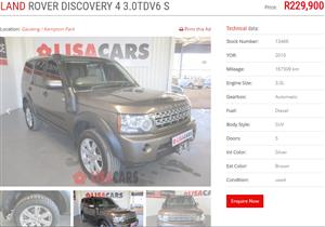 2010 Land Rover Discovery 4 3.0TDV6 S
