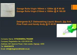 Garage Rolls & Detergents