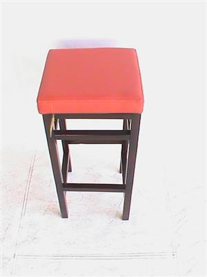 Red wooden bar chair