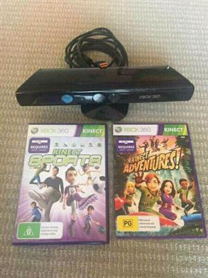 Xbox kinect R400  Kinect games  R150  Kinect sports season 2 R250