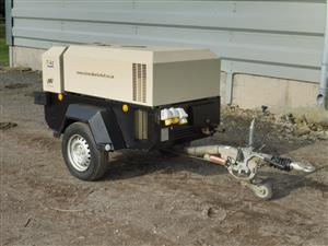 Ready to work 140 CFM Ingersoll Rand Doosan Air Compressor with 1280 hours only