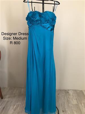 Aquamarine Designer Dress - Size Medium