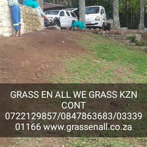 INSTANT TURF ROLL ON LAWN By GRASS En ALL WE GRASS K.Z.N NO HIDDEN OR EXTRA COST WE PREP THE GROUND