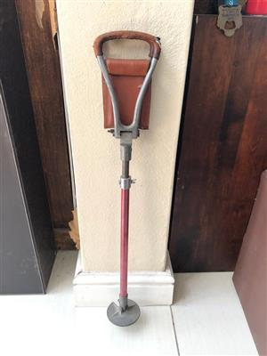 Vintage  Shooting Stick– Seat and walking stick with Leather trim seat - 2 to choose from