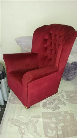 1 Seater red couch