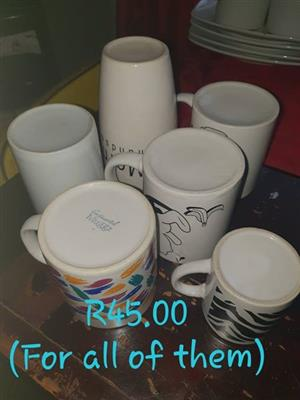 6 Mugs for sale