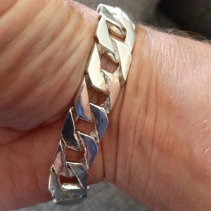 925 Sterling silver mens bracelet, used for sale  Roodepoort
