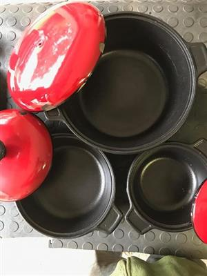 Chef Supreme Cast Iron Ovenproof 3 Pot set
