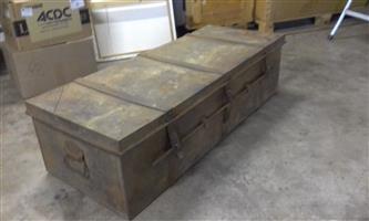 Vintage steel trunck