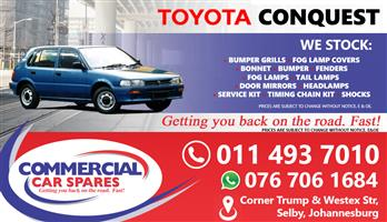 New Toyota Conquest Body Parts And Spares For Sale At Car Spares