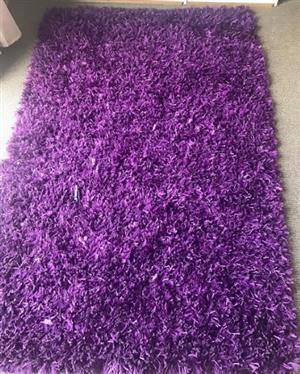Purple Fluffy Carpet Mat Carpet